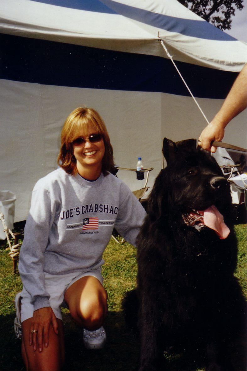 Anne & Dog NewFoundland